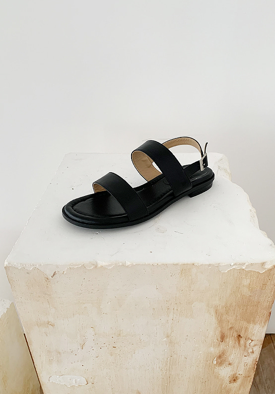 natural sandal(black)