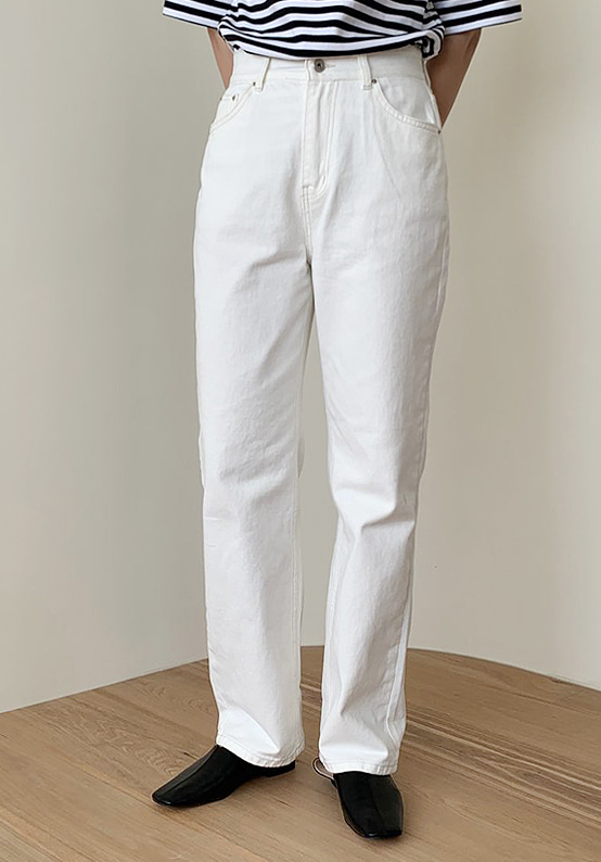 wide cream jeans