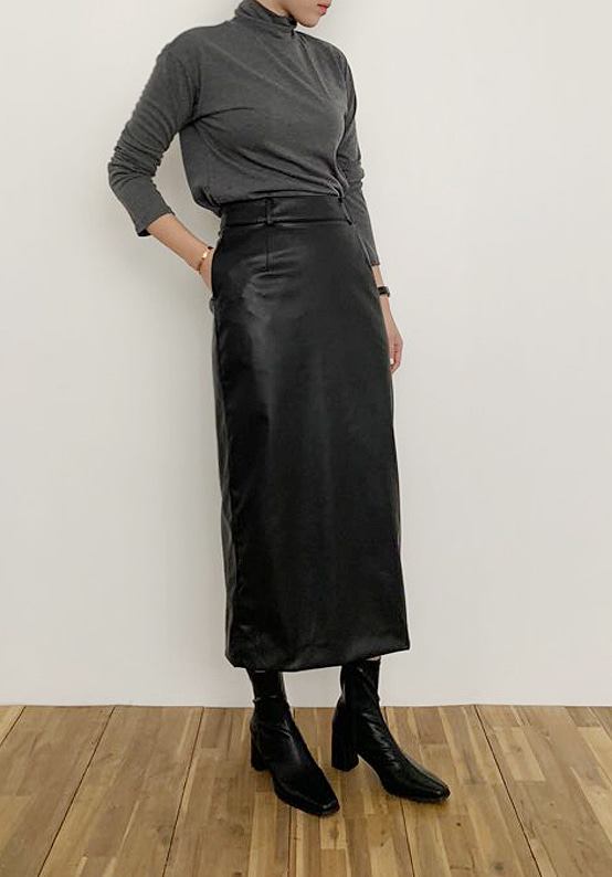 sensual leather skirt